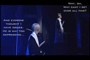 Depressing Byakuya and Gin by needlesjuubei