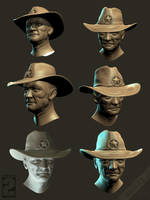 Wasteland 2 - Ranger faces - search by Weilard