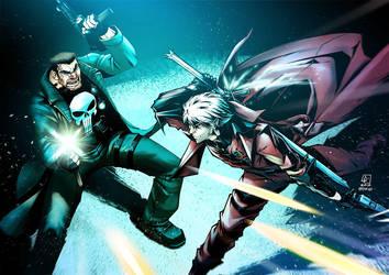 Punisher X Dante by zecarlos