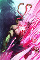 STREET FIGHTER 30th Evil Ryu by zecarlos