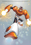 Collab Megaman 30th Sparkman by zecarlos