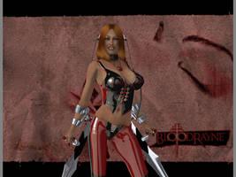 Rayne with blades by thunderrr