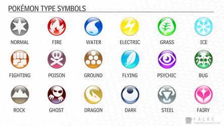 Pokemon Type Symbols (Updated) by falke2009