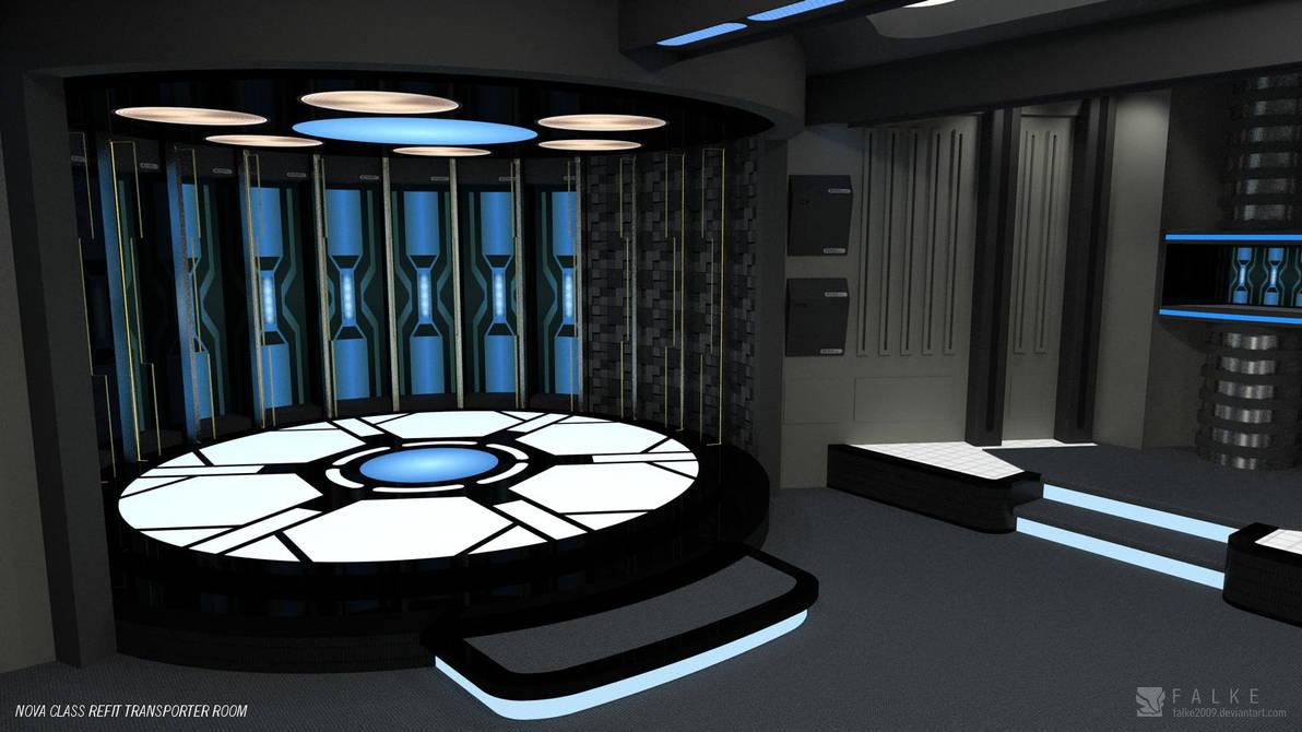 Nova Class Refit Transporter Room Render 2 By Falke2009 On
