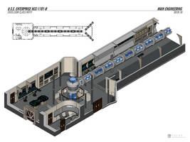 USS Enterprise-B Refit - Engineering by falke2009