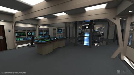 USS Enterprise-B Refit - Engineering (Render 1) by falke2009