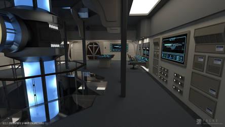 USS Enterprise-B Refit - Engineering (Render 2) by falke2009