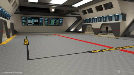 USS Enterprise-B Refit - Shuttle Bay (Render 1) by falke2009
