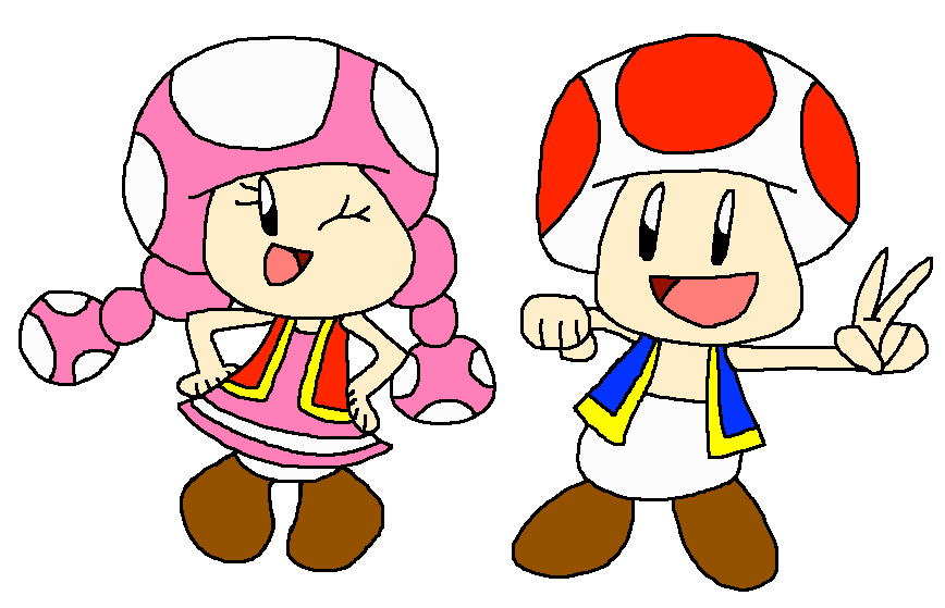 Toad and Toadette BFF! ^_^ by PokeGirlRULES on DeviantArt - photo#31