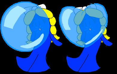 Goo Blows Bubble Gum and Heart Bubble Gum (Blue) by PokeGirlRULES