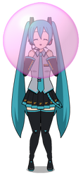 Miku Blows Bubble Gum by PokeGirlRULES