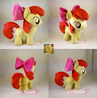 Apple Bloom plushie (FOR SALE) by moggymawee