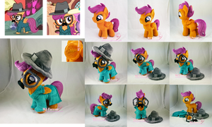 Scootaloo plushie in disguise costume (removable) by moggymawee