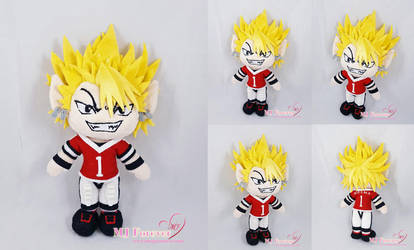 Yoichi Hiruma Plush (Eyeshield 21) by moggymawee