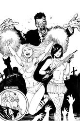 Zombies vs Cheerleaders HS by ColtNoble