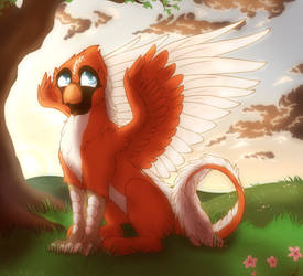 Crimson the Griffon Commission by Acry-Artwork