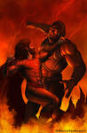 Superman VS Darkseid by martinpazromero