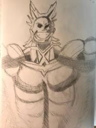 All Might Sketch by DascordStudios