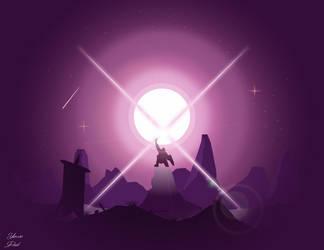 Raised sword by dridiyassin