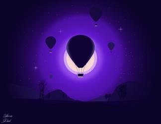 Hot air balloon by dridiyassin