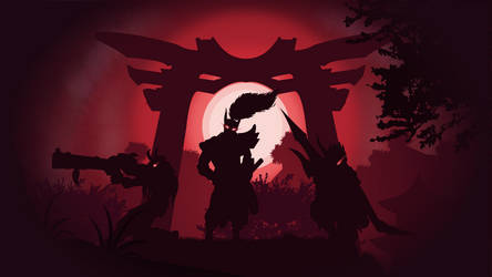 Blood Moon Yasuo, Talon and Jhin by dridiyassin