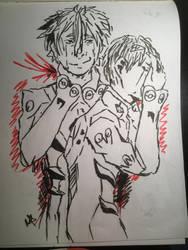 Kaworu and shinji  by nightmareGOD235