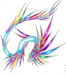 Rainbow Drake by CryoftheBeast