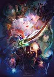 League of Legends- Final battle by bcnyArt