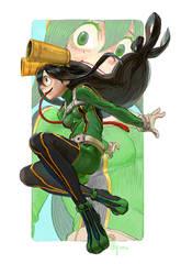 Ashui Tsuyu - My Hero Academia by bcnyArt