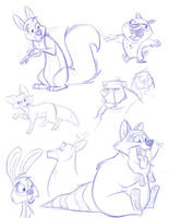 Animal Sketches by toonbaboon
