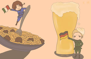 Pasta and Beer by Tophita