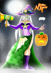 Miora Han and her Witchy Costume! by Zecrus-chan