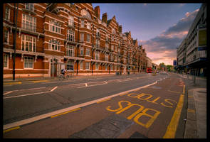 London - Bus Stop by matmoon