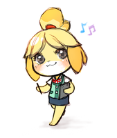 chibi Isabelle by justduet