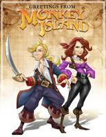 Monkey Island postcard - color by TheoVision