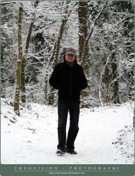 Artist in snow by TheoVision