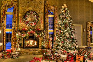 Christmas Family Room HDR by DreAminginDigITal