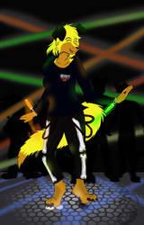 Sunny love dancing (Gfit art) by Dragon-Furry