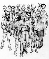 Zombie Horde by Hamdoggz