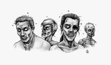 Zombies Prowling by Hamdoggz