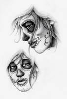 Sugar Skull Faces by Hamdoggz