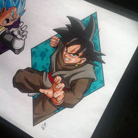 Goku Black Tattoo Design by Hamdoggz