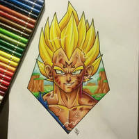 Majin Vegeta Tattoo Design by Hamdoggz