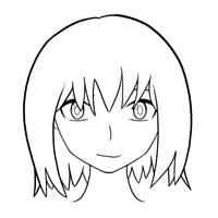Manga head sketch by MinderX