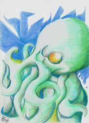 Cthulhu August twentieth by SulaimanDoodle
