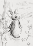 Peter rabbit August drawing by SulaimanDoodle