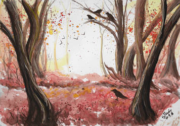 Autumn forest October by SulaimanDoodle