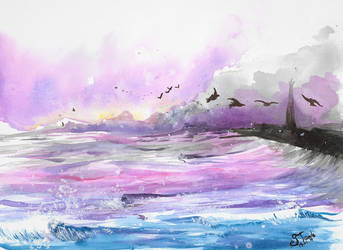 Blackpool watercolor by SulaimanDoodle