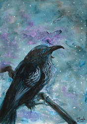 Raven watercolor reupload by SulaimanDoodle