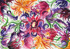 Floral patterns watercolor by SulaimanDoodle